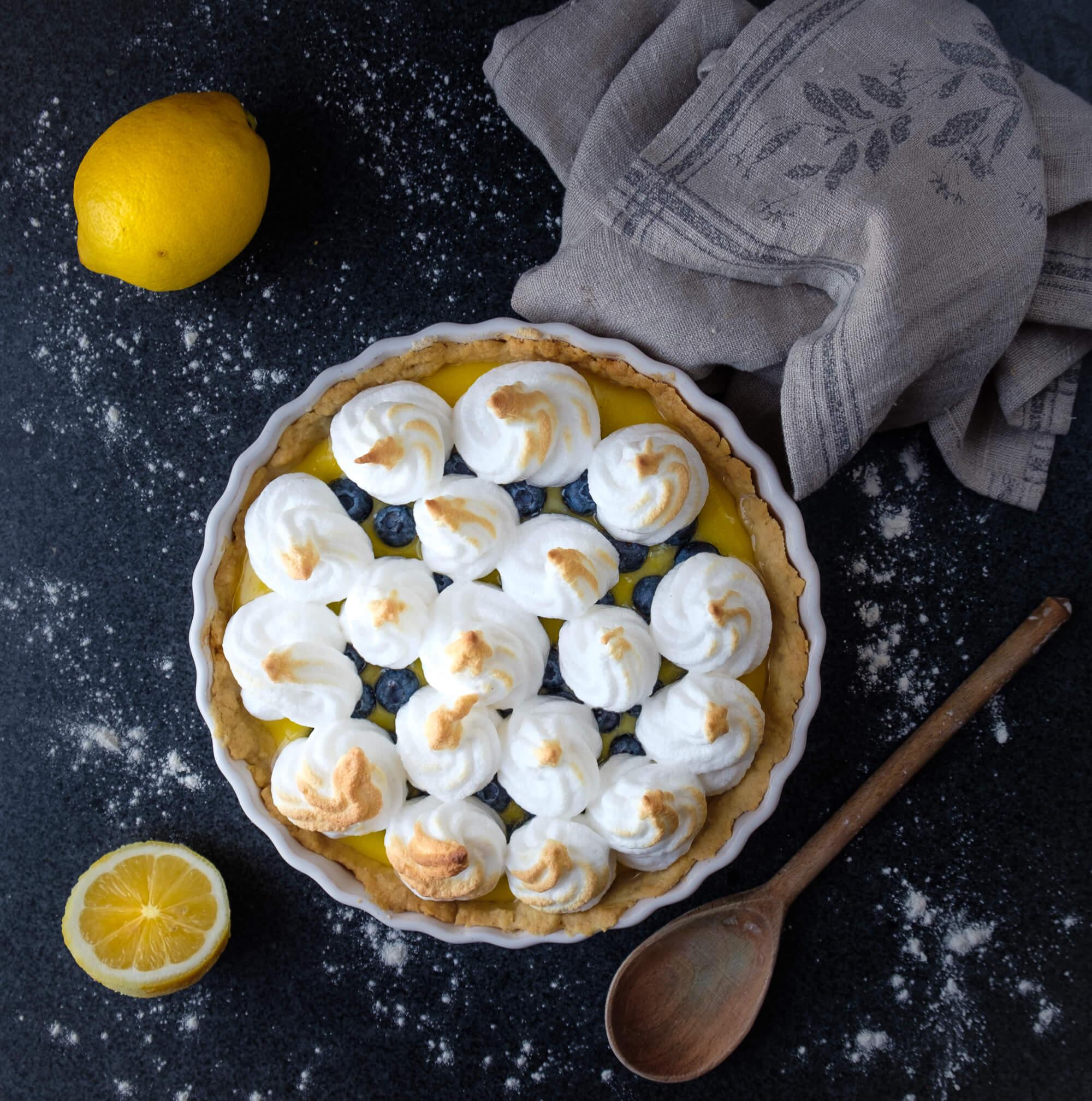 Lemon & Blueberry Meringue Pie